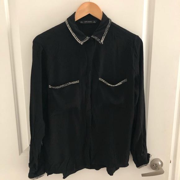 Zara Tops - ZARA black shirt
